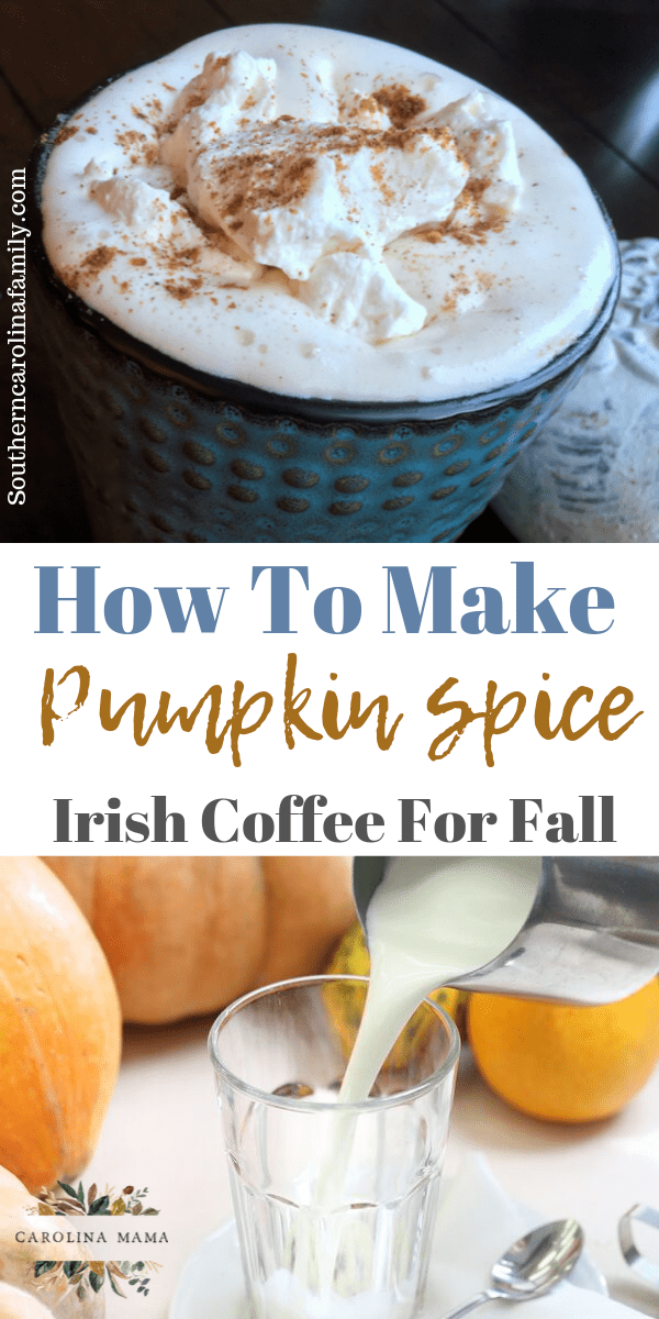 How to make pumpkin spice irish coffee for fall #fallrecipes #irishcoffee #pumkinspiceeverything #pumpkinspice #coffeerecipes