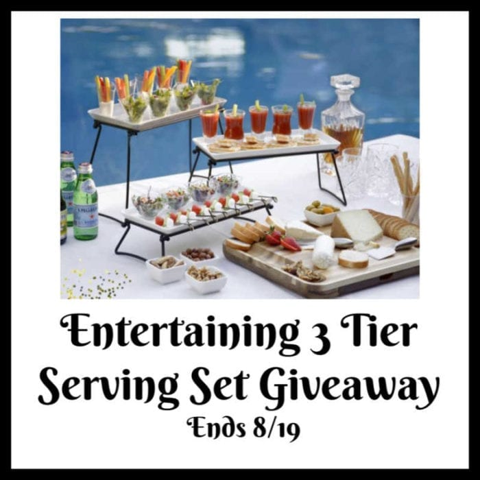 Win a 3 Tier Serving Set! Ends 8/19